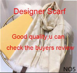 Wholesale NEW Fashion Designer Silk Scarf Hot Sale Women Luxury Spring Winter Shawl Scarf Brand Scarves Size about 180x70cm 6 Colors with Box Optional