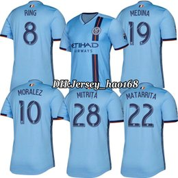 9a1328e79 Top quality nycfc 2019 New York City soccer jersey home 19 20 MLS LAMPARD 8  PIRLO 21 MCNAMARA MORALEZ DAVID VILLA 7 football shirts