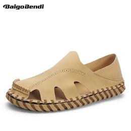 $enCountryForm.capitalKeyWord Australia - Fishermen Close Toe Hollow Out Men Sandals Rome Style Retro Sandals Man Trendy Nonslip Summer Beach Shoes