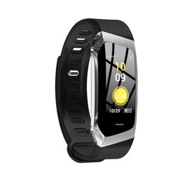 WindoWs gps online shopping - E18 smart bracelet inch color screen large battery capacity smart heart rate GPS tracking wristband watch fitness tracker