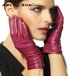 bamboo thermals Australia - 2019 New Women Genuine Leather Gloves Thermal Thicken Lambskin Glove Winter Wrist Goatskin TouchScreen Free Shipping L003NR1