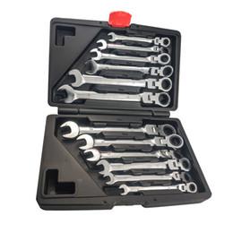 Vente en gros Jeu de clés à cliquet à double usage avec tête fixe de 12 pièces, réparation mécanique rapide, réparation automatique, clé à outils multifonction