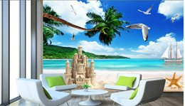 beach wallpaper for home Australia - WDBH 3d wallpaper custom photo Blue sky white clouds beach seascape background living room home decor 3d wall murals wallpaper for walls 3 d