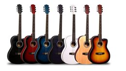 Maple wood acoustic guitars online shopping - inch acoustic guitar Basswood entrants practice student guitar instruments