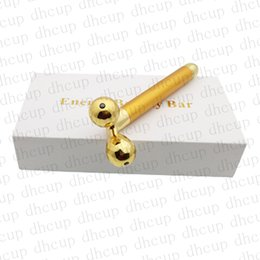 Bar Lift Australia - Beauty Bar Golden Pulse Facial Massager 3D Roller V Face Massager Electric Sonic Depuffer Gold Lift Facial Bar