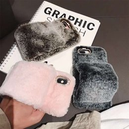 $enCountryForm.capitalKeyWord NZ - Luxury Warm 3D Rabbit Plush Fur Phone Case For iPhone X XS XR XS MAX 6 6S 7 8 Plus Arm Bracket Fashion Furry Soft TPU hair Back Cover