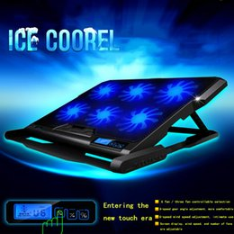 Discount 12 stand - Laptop cooler 2 USB Ports and Six cooling Fan laptop cooling pad Notebook Stand for 12-15.6 inch for