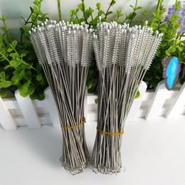 $enCountryForm.capitalKeyWord Canada - 24cm Length Nylon Tube Brushes Straw Brush Stainless Steel Wash Drinking Pipe Cleaning Brush Free Shipping