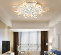 remote dimmers Australia - NEW LED Nordic Iron Acrylic Fish Lamp LED Light Ceiling Lights LED Ceiling Light Chandelier Lamp For Foyer remote dimming MYY