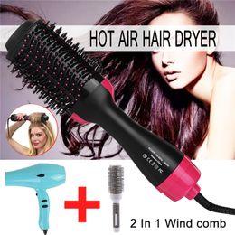 Hair Styler Roller Australia - 2-in-1 multi-function hair dryer rotating brush roller rotary styler combing shape straightening perm hot air comb hair comb straight