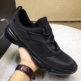 sports plus shoes NZ - New Arrival Knit Fabric Cloudbust Sneakers Mens Sports Shoes Plus Size Lace-up Breathable Fashion Luxury Lightweight Shoes with Origin Box