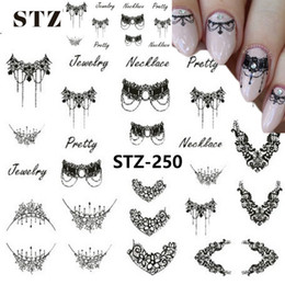 $enCountryForm.capitalKeyWord UK - 1pcs Smiling Face Snowflake Cartoon Nail Art Sticker Set Black Lace Glitter Flower Water Decal Slider Wraps Decor Manicure Ms211