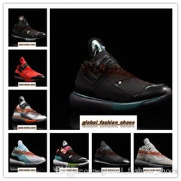 8f09cbc7b60e4 High Quality Y-3 Qasa Elle Lace For Men and Women Knit Running Shoes All  Black White Y3 Sneakers