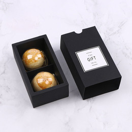 diy biscuit packaging Australia - 2 Grid Black Color Cake Box Candy Box Wedding Favor For Guest DIY Biscuit Pastry Package