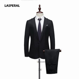 mens fashion linen pants 2019 - LASPERAL Suits Jacket+Pants 2019 Fashion Slim Green Linen Mens Suits Wedding Party Smoking Tuxedo Mens Casual Work Wear