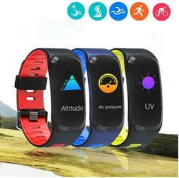 thermometer smart watch NZ - Fitness Tracker Heart Rate Wristbands F4 Smart Bracelet Watch Band Color Screen Blood Pressure Monitor Thermometer Pedometer for Android IOS