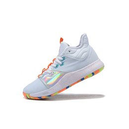 $enCountryForm.capitalKeyWord UK - Mens paul george basketball shoes for sale White Gold Multi NASA Apollo Missions air flights jumpman pg 3 sneakers boots with box size 7 12