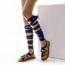 $enCountryForm.capitalKeyWord Australia - Hot Sale-Summer ladies sandals women shoes Sandals Thong Bandage Bohemian Beach Summer Knee High Flat shoes woman Casual #20190101