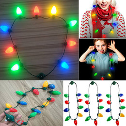 Decoration strings online shopping - Led Light Up Christmas Bulb Necklace For Kids And Adults String Lights Necklace Christmas Decorations Xmas Party WX9