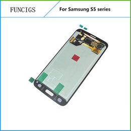 lcd for samsung s5 Australia - Free shipping LCD touch assembly replacement for Samsung galaxy s5 I9600 G900F display screen digitizer repairing parts