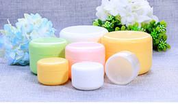 $enCountryForm.capitalKeyWord Australia - DHL FREE 20g 50g 100g 250g transparent large round bottle Cosmetic Empty Jar Pot Eyeshadow Lip Balm Face Cream Sample Container 5 colors