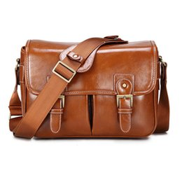 pu camera bag dslr UK - Photo Luxury Camera Stylish Fashion Retro PU Leather Case Handbag Waterproof Shoulder Messenger DSLR Bag for Canon Nikon Sony L T191025