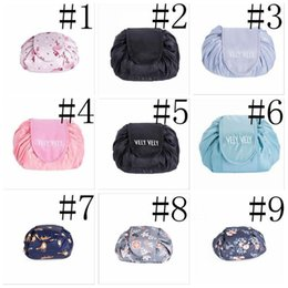 wholesale round cosmetic bag UK - Women Drawstring Travel Cosmetic Bag Makeup Bag Organizer Make Cosmetic bag Case Storage Pouch Toiletry Beauty Kit free shipping