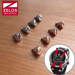$enCountryForm.capitalKeyWord NZ - 4pieces set watch lug screws for Tag Huer Mclaren Lacivert F1 Kasa celik watch band strap belt fix screw (rose gold silvery)