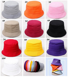 $enCountryForm.capitalKeyWord Australia - 500pcs Children Plain Bucket Hat Kids Blank Fishing Hats Boy Girl Fisherman Cap Custom Logo Color Baby Beach Sun Visor Gift J165