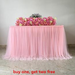 Custom Baby Tutus Australia - wedding birthday baby shower table cloth net fabric decoration tutu tulle table skirt custom made