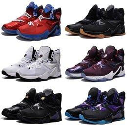 new product 023ef e0b5b Cheap New 2019 Lebron 13 XIII basketball shoes Blue Black Gold Gym Red  Galaxy Brown Grey White Kids shoes Men Shoes