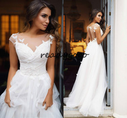 $enCountryForm.capitalKeyWord Australia - Open Back Bohemian Wedding Dresses Butterfly Boho Backless Wedding Dress Summer White Bridal Gowns For Women Plus Size Elegant