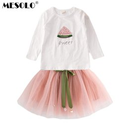 $enCountryForm.capitalKeyWord NZ - good quality The new children's wear autumn girl 2019 long watermelon two-piece suit the princess dress dress a undertakes C1