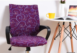 swivel bar chairs Australia - Office Computer Chair Cover Boss Chair Cover Armrest Cloth Art Swivel Body Stretch Bar Stool Cover