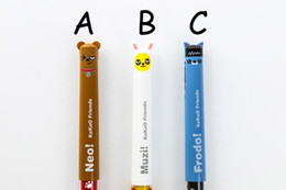 $enCountryForm.capitalKeyWord NZ - 3PCS LOT Cartoon Pens 3 Colors Kawaii Ryan Muzi Neo Frodo Stationery Dolls Creative Kids Learning Tools For Student