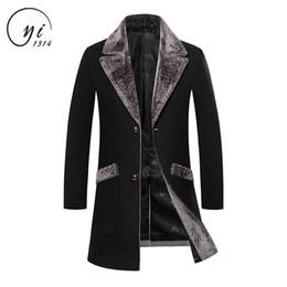 $enCountryForm.capitalKeyWord Australia - Manteau Homme Mid-Long Black Grey Mens Trench Coat Blue 4xl 5xl Fur Collar Trench Coat Men Wool Blend Winter Slim Fit Men