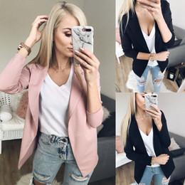 Wholesale hot ladies coats resale online – Hot Fashion Women Ladies Formal Suit Jackets Coat Business Blazer Long Sleeve Jacket Outwear