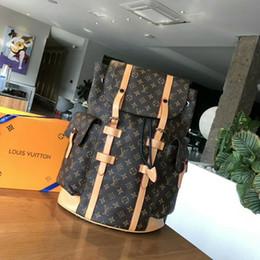 PoPular girl backPack online shopping - Low price Sale classic style designer leather fashion backpack men and women popular knapsack High quality luxury Designer men s bag