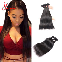 $enCountryForm.capitalKeyWord Australia - Straight Human Peruvian Virgin Hair YOUR GIRL Hair 3 Bundles Natural Color Factory Price 8-28 Inches Machine Double Weft Weaving