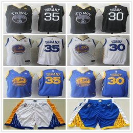 kids basketball jerseys 2019 - Men Youth Kids #35 Kevin Jersey The Town Black Durant Home Road Stephen Blue White 30 Curry Basketball Jerseys discount
