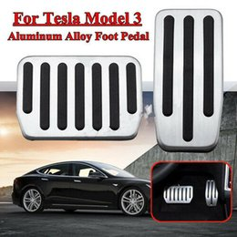 Aluminum Accelerator Pedal Australia - Topfit Aluminum Accelerator Pedal Cover Gas Pedal for Tesla Model 3(2 pcs  set)
