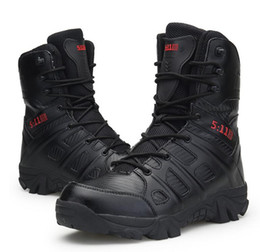 tactical chains Australia - Hot Sale- comfortable high boot wear-resistant military boots tactical boots Martin men leather boots personality men's boot wholesale V40