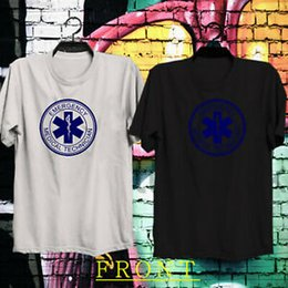 Blue Tee Logo Australia - Emergency Medical Technician TMT Logo BlaNew & White T Shirt Tee 100% Cotton