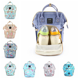 eco diaper bags NZ - Flamingo Unicorn Mommy Bags Animal Printed Multifunction Diaper Maternity Backpacks Outdoor Nursing Travel Storage Bags 12pcs LJJ_OA5680
