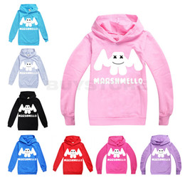 teens summer clothes 2019 - 2019 Marshmello DJ Mask Clothing Kids Long Sleeve Hoodies Girl Tops Teen Kids Sweatshirt Jacket Hooded Coat Cotton Cloth