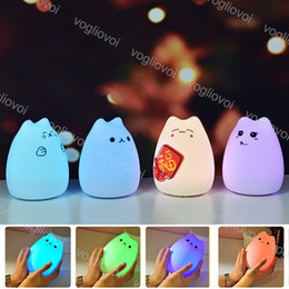 Usb light dimmer online shopping - Night Lights Animal Silica Gel ABS MA Battery USB Rechargeable For Kids Color Changing Mode Dimming Function with Touch Sensor EUB