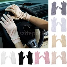 Dark Cycles NZ - Phenovo Ladies Women 100% Silk Gloves Liner Inner Thermal Skiing Driving Cycling Party Gloves