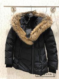 Men wool coat hood online shopping - Women men Parkas LONG WINTER Mack age ADALI Down Parkas WITH HOOD Snowdome jacket Brand Real Raccoon Collar White Duck Outerwear Coats