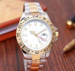 $enCountryForm.capitalKeyWord NZ - Top Selling fashion men GMT Quartz Watches Gold Silver Stainless Steel White Dial Dive Ceramic Circle 44mm Mens Calendar Watch Men Watches
