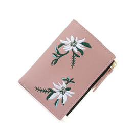 $enCountryForm.capitalKeyWord Australia - Pu Leather Women Wallet Female Small Coin Purse Floral Embroidery Short Women Wallets Portefeuille Femme for Girls
